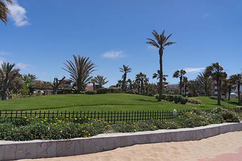 An der Strandpromenade von Agadir / Marokko